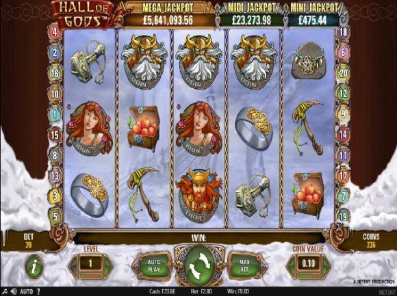 Hall of Gods videoslots casinospel